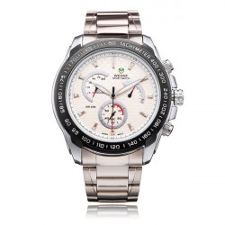 Weide WH1111 Silver Rostfritt Stål 3 Urtavla Herr Quartz Armbandsur