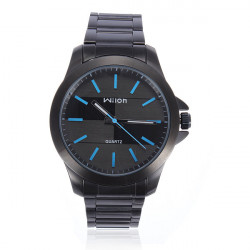 Wilon 1070 Blue Quartz Stainless Steel Business Men Wrist Watch