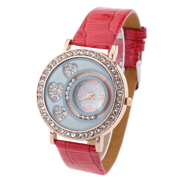 Women Heart Rhinestone Luxury Fashion Quartz Watch Watch
