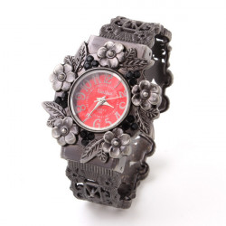 Xin Hua 735 Vintage Flowers Alloy Band Case Bracelet Watch