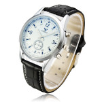 YAZOLE 295 Leather Band Independent Second Hand Quartz Watch Watch
