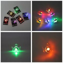 1Pc leuchten Blinken LED Schmetterling baumeln Ohrring Tanzparty