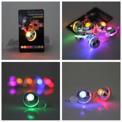 1Pc leuchten den LED Runde baumeln Ohrring Tanzparty