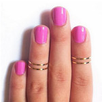 1Pc Punk Joint Concise Polished Glaze Thin Finger Ring Sliver Gold Women Jewelry
