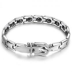 316L Stainless Steel Health Care Magnetic Stone Men Bracelet