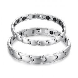 316L Rostfritt Stål Hälsa Energi Magnetisk Sten Par Armband