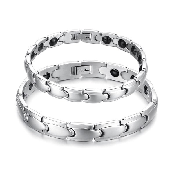 316L Stainless Steel Health Energy Magnetic Stone Couple Bracelet Fine Jewelry