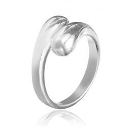 925 Sølv Belagte Double Round Hoved Åbning Ring Smykker