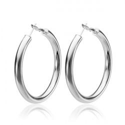 925 Silver Plated Earrings Hoop Ring Pendant Ear Drop Jewelry