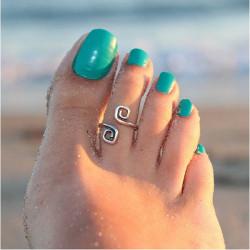 Antikes Silber überzogene Zehenring für Frauen Foot Beach Schmuck
