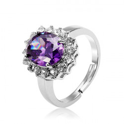 Austrian Crystal Cubic Zirconia Adjustable Ring Wedding Jewelry
