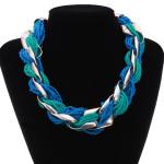 Lätzchen Weave kleinen Perlen dicke Kette Opulente Halskette Modeschmuck Damenschmuck