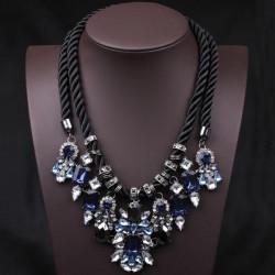 Blue Crystal Halsband Chunky Statement Halsband Hamprep