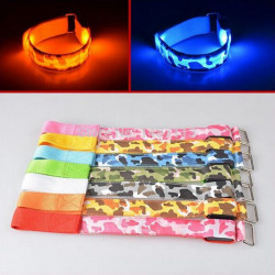 Camouflage Running Gear Glowing LED Arm Band Lights Flash Bracelet