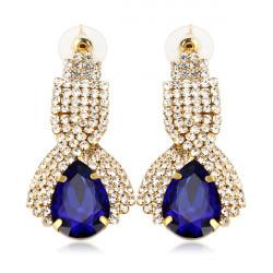 Classic Water Drop Crystal Rhinestone Earrings For Women