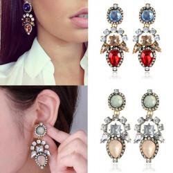 Kristallrhinestone Wasser Tropfen Ohrringe Frauen Schmuck