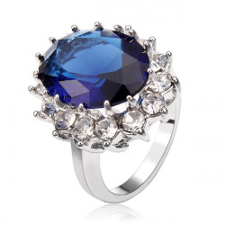 Crystal Ziron Engagement Ring Wedding Jewelry For Women