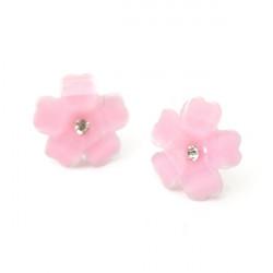 Cute Clover Flower Crystal Stud Øreringe for Kvinder