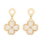 Four Leaf Clover Opal Dangle Earrings For Women 18K Gold Plated Women Jewelry