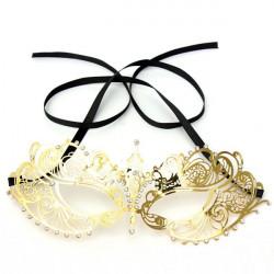 Gold Metall Rhinestone Eye Mask Venetian Carnival Maskerad Mask