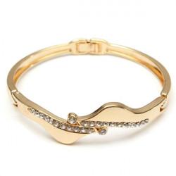 Gold überzogen Gefüllt Kristall Verbindungs Armband Armband Frauen Schmuck