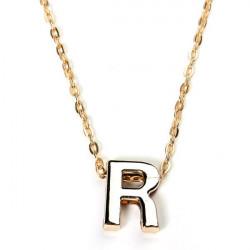 Gold überzogene Brief Alphabet Namen hängende Kettenhalskette Unisex Schmuck