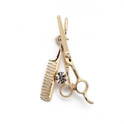 Guld Silver Crystal Mini Comb Saxar Krage Pin Brosch Smycken