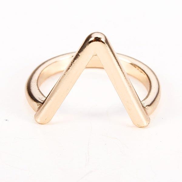 Guld Sølv Belagte V Shape Pil Shape Knuckle Fingerringe Damesmykker