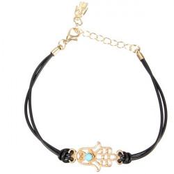 Räcka Av Fatima Hamsa Gummiband Handgjorda Charm Armband för Kvinnor