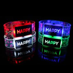 Glückliche leuchten LED Armband Flash glühendes Armband für Partei