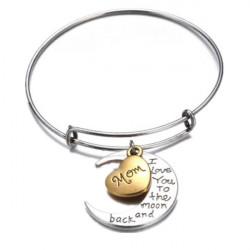 Ich liebe dich zum Mond und zurück Familienmitglied Armband Armband