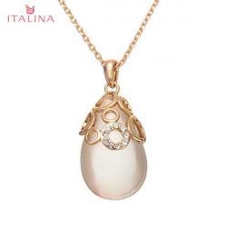 Italina Austiran Kristallwasser Tropfen hängende Opalhalskette