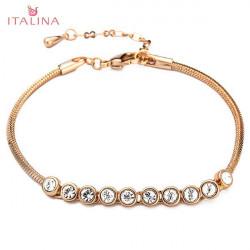 Italina Austrian Crystal Bracelet For Women 18K Rose Gold Plated
