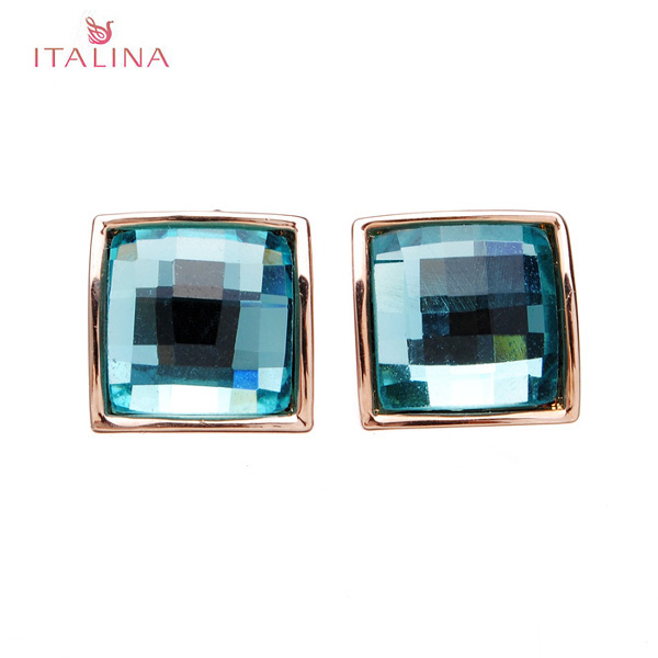 Italina Austrian Crystal Square Stud Earrings For Women Women Jewelry