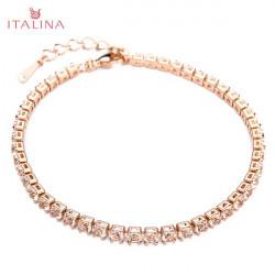 Italina österreichischen Kristall Zirkon Armband 18K Rose Gold überzogen