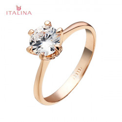 Italina Austrian Crystal Ziron Finger Ring For Women Gold Silver