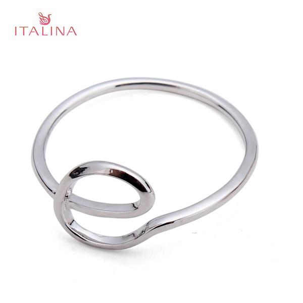 Italina Gold Silber Buchstabe E Knöchel Finger Finger Ring für Frauen Damenschmuck