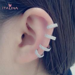 Italina U Form Kristall Zircon Ohr Stulpe 18K überzogen