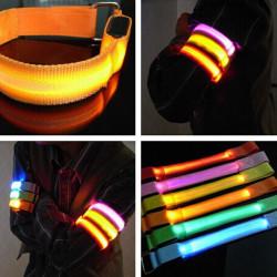 LED Armband Sicherheit Reflektierende Gurtband Snap Verpackungs Armband Flashing