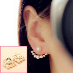 Dejlige Forgyldt Pearl Ear Stud Øreringe til Kvinder