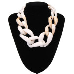 Mixed Color Acrylic Statement Necklace Chunky Chain Necklace Fine Jewelry