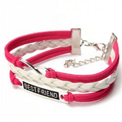 Multicolor Best Friend Infinity Symbol geflochtene Lederarmband