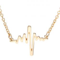Multicolor Unisex Heart Beat Alloy Chain Pendant Necklace Jewelry