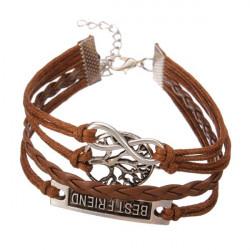 Multilayer Kärlek Oändlig Symboler Armband Läder Vävda Armband