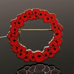 Poppy Red Flower Alloy Brooch Badge Pin Women Jewelry