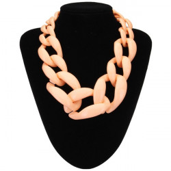 Pure Color Acrylic Statement Necklace Chunky Chain Necklace For Women