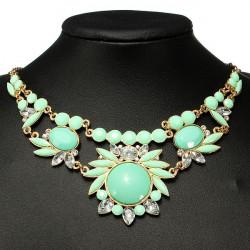 Rhinestone Bubble Statement Bib Choker Necklace Women Jewelry