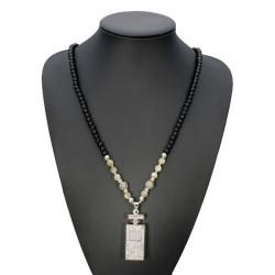 Rhinestone Perfume Bottle Shape Perler Halskæde Vedhæng Halskæde for Kvinder