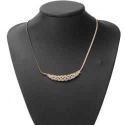 Silber Gold überzogene Rhinestone Twisty Schlangenkette Anhänger Halskette