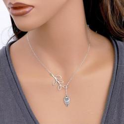 Silver Leaf Owl Vedhæng Halskæde Kvinder Smykker